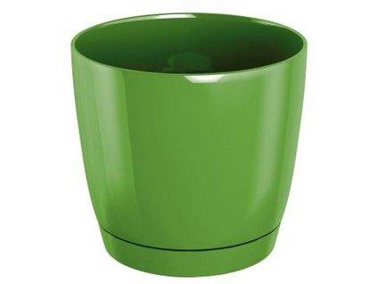 Květináč s miskou COUBI 13,5 cm, 1,2l, tmavě zelená