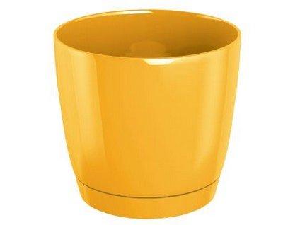 Květináč s miskou COUBI 15,5 cm, 2l, žlutá