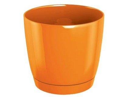 Květináč s miskou COUBI 15,5 cm, 2l, tmavě oranžová