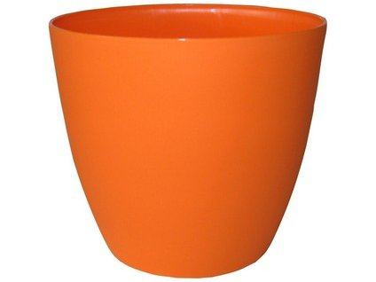 Obal květináče ELLA 18 cm, oranžová matná