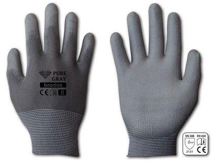 Pracovní rukavice Bradas PURE GRAY PU 10