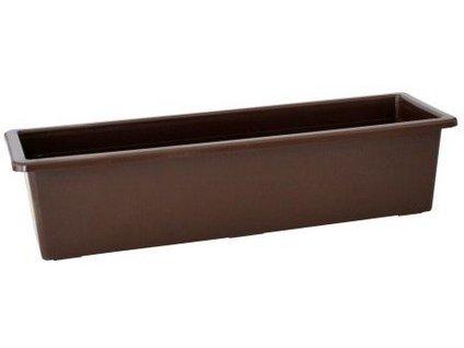 Samozavlažovací truhlík SALVIA 50 cm, hnědá