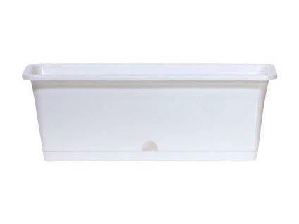 Truhlík s miskou CAMELIA 40,2 x 17 cm, 9l, bílá