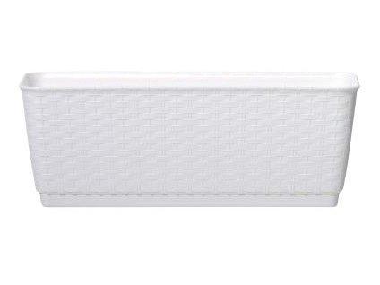 Truhlík s miskou RATOLLA P 29,3 x 12 cm, bílá