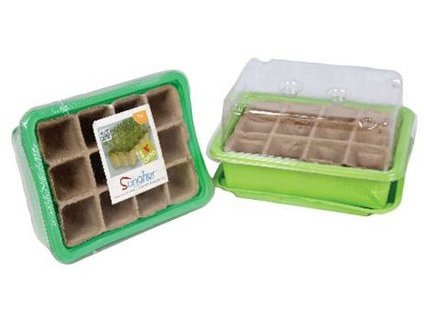 Minipařeniště + deska sadbová rašelin.12 polí (3 sady)