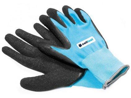 Zahradní rukavice CELLFAST polyester/latex vel.8/M