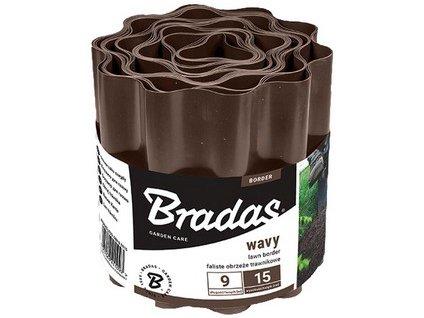 Lem trávníku BRADAS 10 cm x9m, hnědá