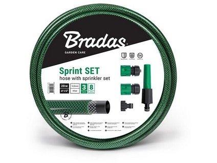 """Zahradní hadice BRADAS SPRINT 1/2"""", 20m, neprůhledná zelená + příslušenství"""
