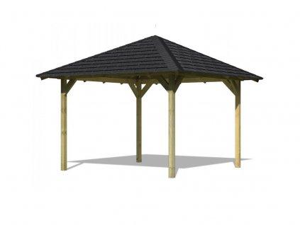 Zahradní altán KARIBU CORDOBA 68820 vč. černého střešního šindele
