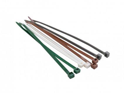 Stahovací pásky 190 mm (50 ks), šedá