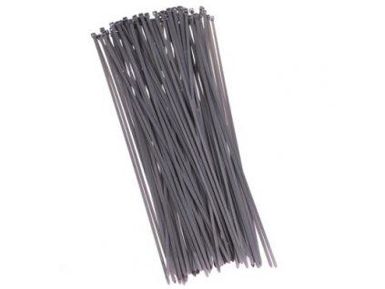 Stahovací pásky 200 mm (100 ks), šedá