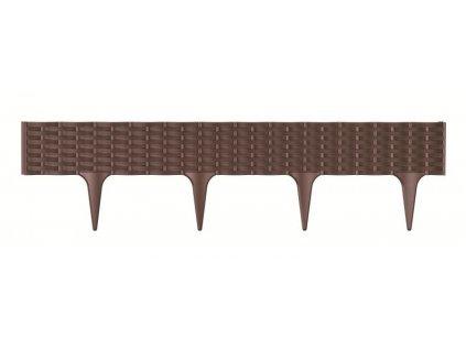 Travní lem GARDEN BORDER hnědý 390cm