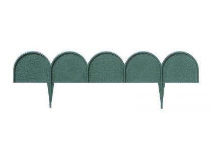 Travní lem GARDEN LINE tmavě zelený 1000cm