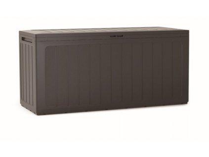 3463106 zahradni box boardebox 280 l tmave hneda 116 cm