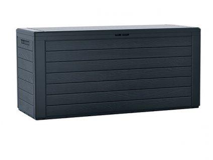 3463112 zahradni box woodebox 280 l antracit 116 cm