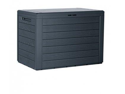 3463115 zahradni box woodebox 190 l antracit 78 cm