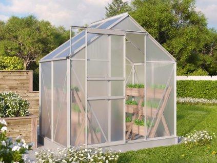 Polykarbonátový skleník VITAVIA TARGET 2500, PC 4 mm, stříbrný