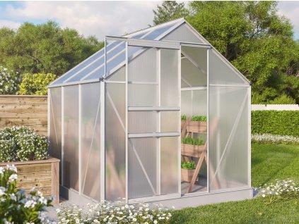Polykarbonátový skleník VITAVIA TARGET 3800, PC 4 mm, stříbrný
