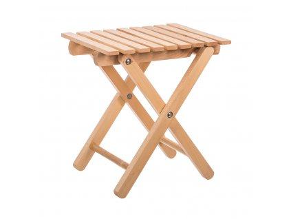 Dřevěná skládací stolička