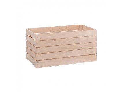 Dřevěná bedýnka 60 x 22 x 30 cm, přírodní