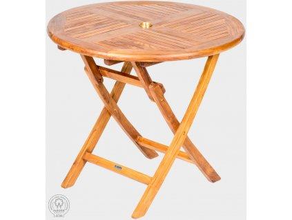 Skládací stůl kulatý z teaku VASCO II