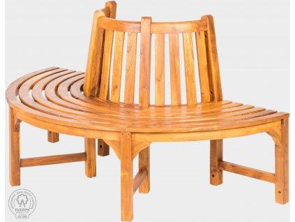 Kruhová lavice z teaku AGNES