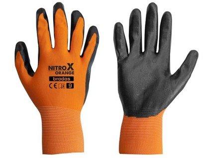 Pracovní rukavice Bradas NITROX ORANGE nitril 10
