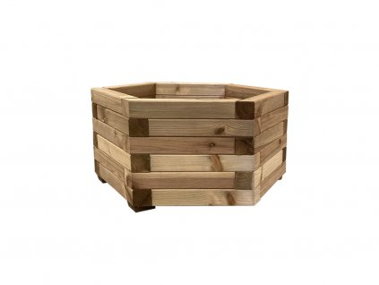dreveny vyvyseny zahon royal hexagonal planter mensi