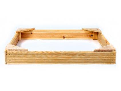 Pískoviště dřevěné čtyřhranné malé 100 x 100 cm