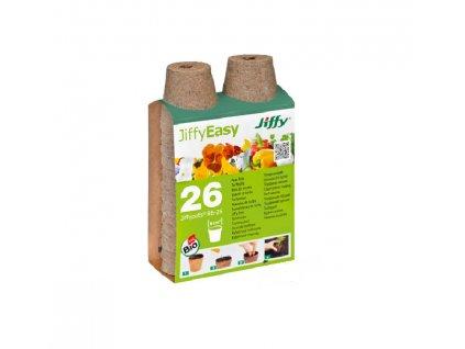 Rašelinový květináč Jiffypot 6 cm - balení 26 ks