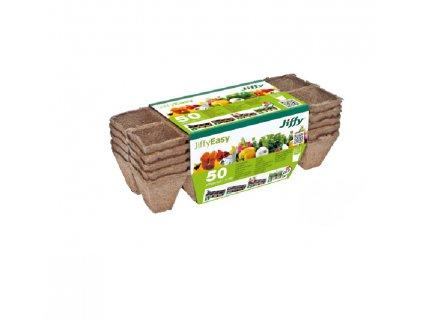 Rašelinový kontejner Jiffystrips 4,5 x4,5 cm - plato 10 ks-5 plat v balení