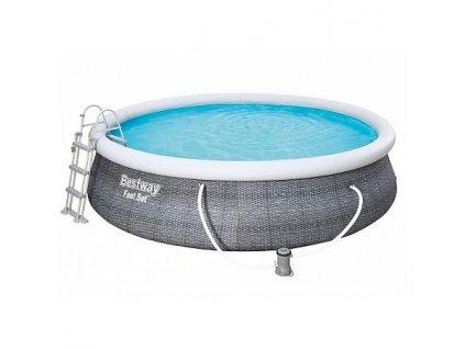 Bazén BESTWAY Fast Set Rattan 4,57 x 1,07 m - 57372