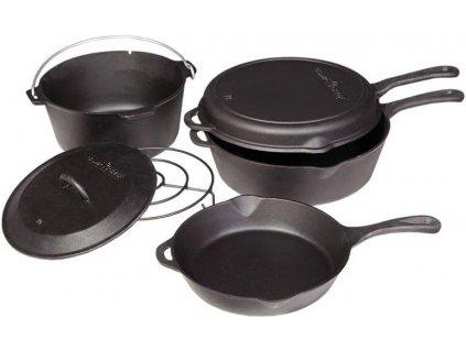 Sada litinového nádobí Camp Chef (6-dílná) - cenově zvýhodněný set nejpoužívanějšího nádobí