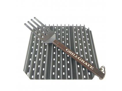 Grilovací rošt GRILLGRATE pro Kamado 46 cm cm s grilovací obracečkou