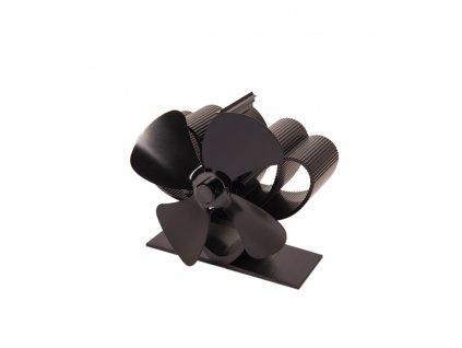 Ventilátor na kamna FLAMINGO čtyřlopatkový MINI, černý