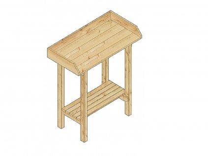 Pracovní stůl do skleníku LANITPLAST HOLZ (S712)