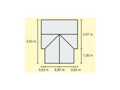 Skleník Vitavia SIRIUS PC 4 mm stříbrný