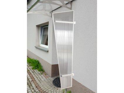 Boční stěna ke stříšce LANITPLAST UNI bílá / PC