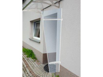 Boční stěna ke stříšce LANITPLAST UNI bílá / PLEXI