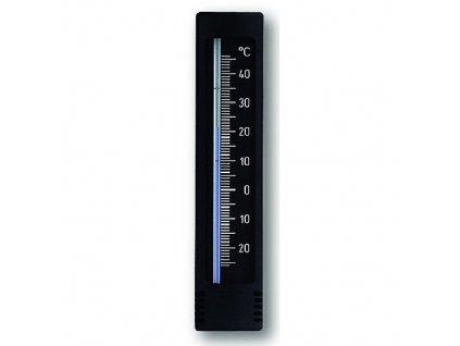 Teploměr venkovní/vnitřní 15 cm černý