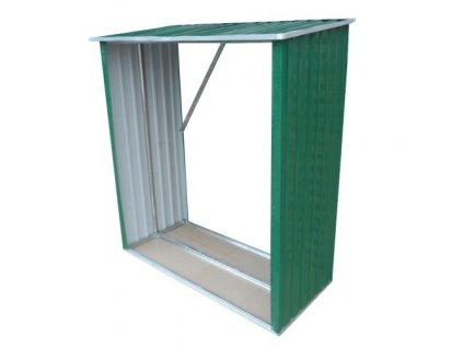 Přístřešek na dřevo 146 x 54 x 150 cm plech
