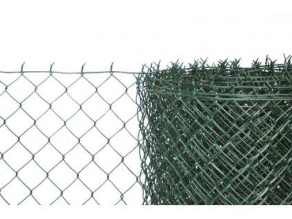 Pletivo poplastované výška 150 cm zelené s napínacím drátem
