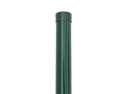 Plotový sloupek zelený průměr 48 mm, výška 175 cm