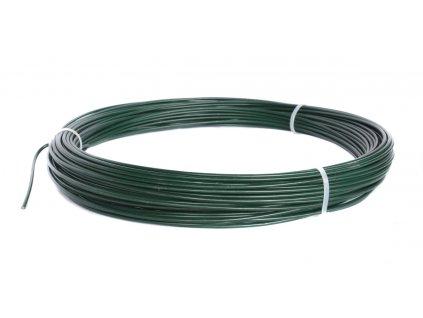 Napínací drát poplastovaný zelený (PVC) 2,2/3,2 mm, délka 26 m
