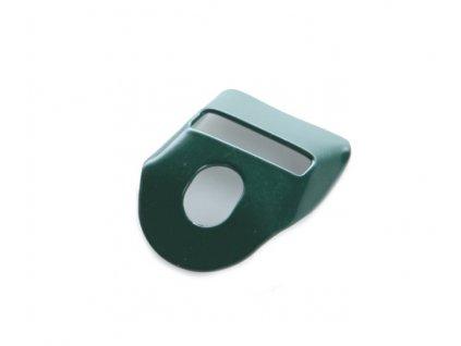 Očko na přichycení napínáku na opasek - PVC zelené