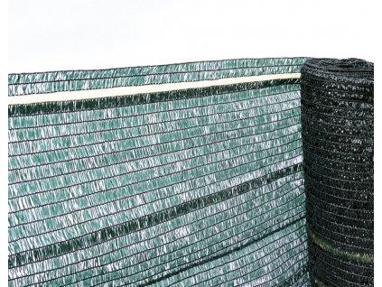 Stínící tkanina, zastínění 60%, výška 125 cm, zelená
