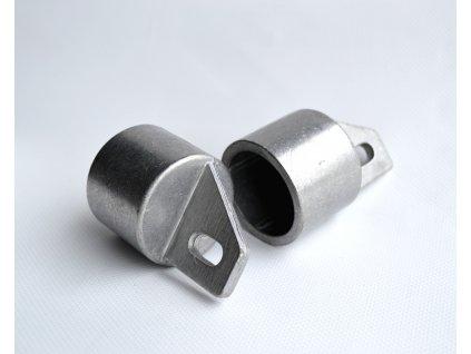 Koncovka na rozpěru Al 38mm stříbrná