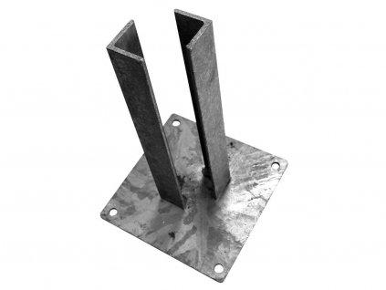 Patka na sloupek 100 x 100 mm pozinkovaná - Zn