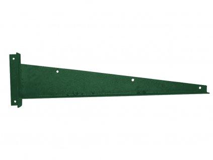 Bavolet Zn+PVC na křídlo branky-brány rovný pravý - VÝPRODEJ