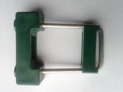 Příchytka panelu U na sl. 60x40 PVC - ZELENÁ